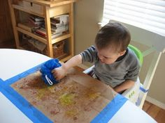Lots of good ideas for craft projects for infants and older kids