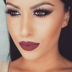 Make up is looking on point. Winged eyeliner with matt foundation and a beautiful shade of lipstick Flawless Makeup, Gorgeous Makeup, Love Makeup, Makeup Inspo, Makeup Inspiration, Makeup Tips, Makeup Looks, Makeup Ideas, Awesome Makeup