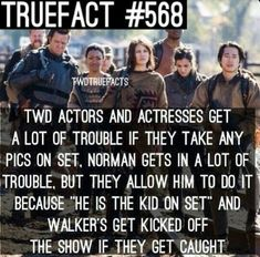 Norman's the kid on set haha