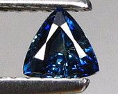 Natural Blue Sapphire Trillion cut