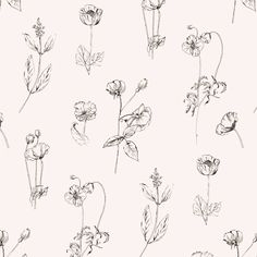 Morgan Northway Floral Pattern by Little Trailer Studio