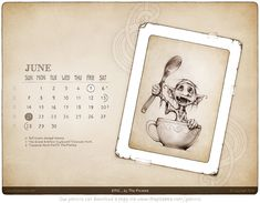 The June edition of our digital calendar-wallpaper can now be downloaded by all our Patrons and it features a wee picture of Eric the goblin.(now in the archives).   #patronsofthepicsees #wallpapercalendar #goblins Calendar Wallpaper, Desktop Calendar, Goblin, 9 And 10, June, Personalized Items, Digital, Gifts, Pictures