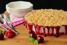 Cherry-Berry Cobbler with a streusel topping, yum!