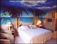 Tropical Beach Bedroom   Loving This Theme/ Bedroom Concept