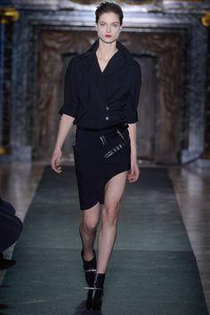 Anthony Vaccarello- asymmetric skirt
