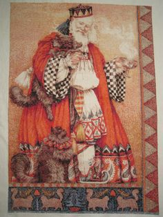 father christmas with cats