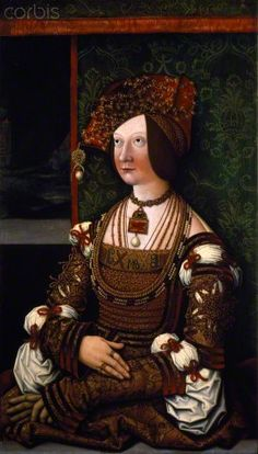 Portrait of Empress Bianca Maria Sforza (1472-1510), second wife of Maximilian I, Holy Roman Emperor. Painting by Bernhard Strigel (1460-1528) Dim. 76x43,5. Vienna, Kunsthistorisches Museum, inv. 4404