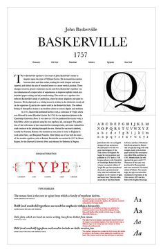Type Classifiction Poster_Baskerville by Vincenzo Barkasy, via Flickr