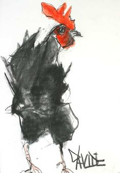 Valerie Davide birds originals for sale Rooster Painting, Rooster Art, Chicken Painting, Chicken Art, Bird Drawings, Animal Drawings, Watercolor Bird, Art Graphique, Animal Paintings