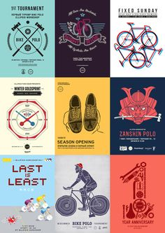 Fixed Gear posters by Ooli Mos, via Behance