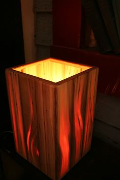 Matthew Holdren makes these lamps out of heart pine, while I pine for this lamp. ;)