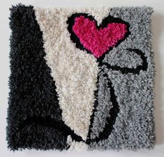 Punch Needle, Rug Hooking, Wool Rug, Shag Rug, Diy And Crafts, Christmas Crafts, Diy Rugs, Weaving, Quilts
