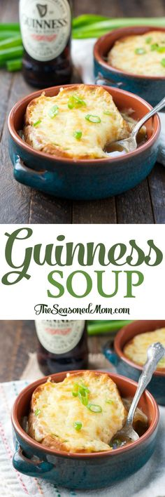 A Quick and Easy Guinness Soup is perfect for St. Patrick's Day! Soup Recipes | St. Patrick's Day | Irish Food | Irish Recipes | Dinner Ideas | Easy Dinner Recipes Guinness Chili Recipe, Guinness Recipes, Beer Recipes, Cooking Recipes, Cooking Ideas, Easy Irish Recipes, Scottish Recipes, English Recipes, English Food