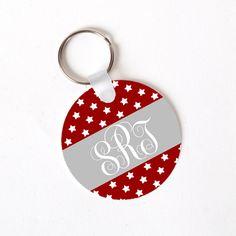 Custom Key Tag - Monogram Key RIng - Personalized Key Ring - Monogram Gift - Personalized Gift for Her