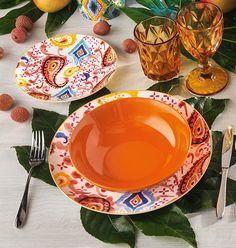 Linea Samba e bicchieri Diamante: una combinazione che regala alla tua tavola colore, carattere e vivacità! Samba, Plates, Tableware, Licence Plates, Dishes, Dinnerware, Griddles