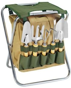 Picnic Time Picnic Time 5-pc Garden Tool Set with Tote and Folding Seat from Target | BHG.com Shop