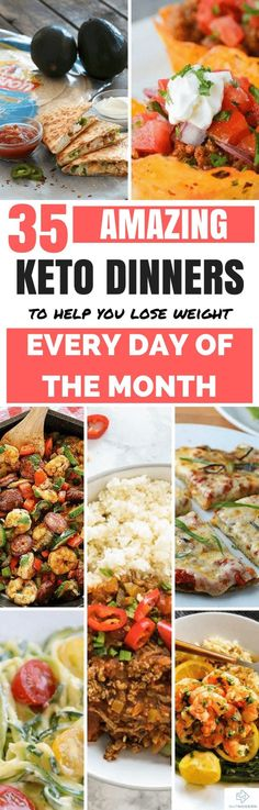 35 Ketogenic Dinners for Every Day of the Month - Diet Meal Plans - Keto Foods, Ketogenic Recipes, Low Carb Recipes, Diet Recipes, Cooking Recipes, Healthy Recipes, Diet Tips, Cena Keto, Low Carb Diet