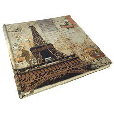 Álbum de Fotos Autocolante em Lona Torre Eiffel  Valor: R$ 172,05 Comprar: www.carrodemola.com.br/produtos/850/album-fotos-autocolante-lona-torre-eiffel-metro-oldway-34x34cm