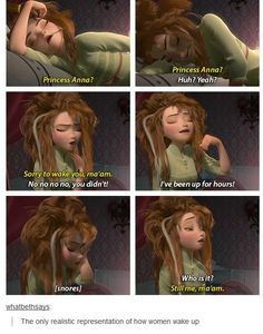 Thank you disney, for finally realizing how us girls really wake up.