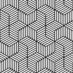 Black and White / pattern design / optical art / Lined: