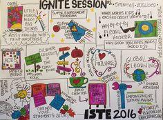 Sketchnote of ISTE 2
