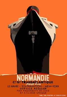 DISLOV LE NORMANDIE | Restored Vintage to Modern Art Poster – Dislov Art is My Religion