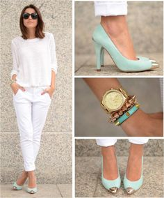 White & Mint. #LovelyPepa