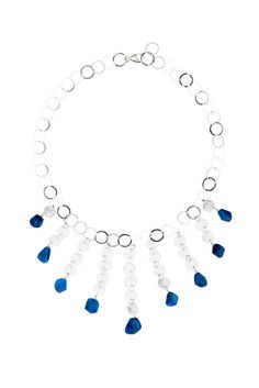 Appetite and Sterling Disc Bib Necklace