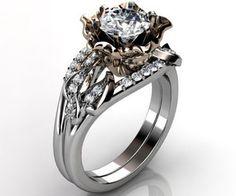 flower diamond ring rose gold - Google Search