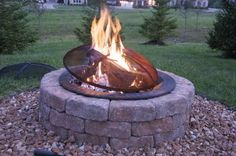 How To Build An Outdoor Firepit- The Polkadot Chair