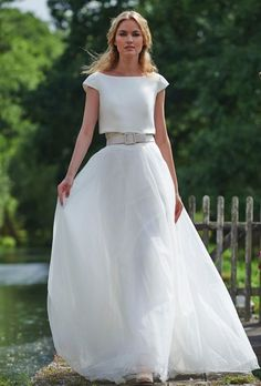 Stephanie Allin wedding dress;