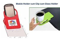 AndAlso Random Color Home Office Desk Table Clip Drink Cup Cans Coffee Mug Holder Stand: Amazon.in: Home & Kitchen
