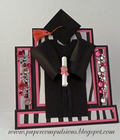 Center step graduation card