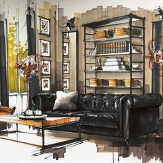 Marvelous Home Design Architectural Drawing Ideas. Spectacular Home Design Architectural Drawing Ideas. Interior Design Renderings, Drawing Interior, Interior Rendering, Interior Sketch, Interior Architecture, Home Interior, Interior Design Living Room, Interior And Exterior, Scandinavian Interior