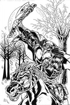 coloring pages frazetta google search headless horsemancoloring pages