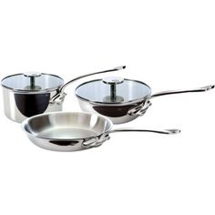 Mauviel 5-pc. French Essentials M'Cook Stainless Steel Cookware Set