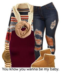 """""""..."""" by trinityannetrinity ❤ liked on Polyvore featuring American Apparel, UGG Australia and J.Crew"""