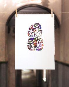 TIKI STENCIL | Spray Paint Stencil, Hand Painted Unique 350mm x 500mm $150, 500mm x 700mm $250 | Flox.co.nz