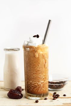 Caramel Frappuccino with Almond Milk Ice Cubes, Cold Brew Coffee, and Date Caramel (recipe) / by Minimalist Baker