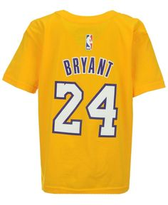 adidas Kids' Kobe Bryant Los Angeles Lakers Name And Number T-Shirt