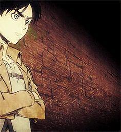 "Shingeki no Kyojin ""Attack on Titan"" (Gif) - Eren Jaeger, Mikasa Ackerman, Armin Arlert, Sasha Blouse, Conny Springer and Jean Kirstein."