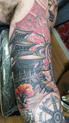 Buddha sleeve tattoo. Bali august 2016
