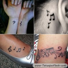 tatuajes musicales para mujeres                              …