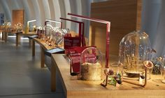 """The """"Buffet of the Five Senses"""" gives visitors the chance to smell a selection of the more unusual scents of wine."""