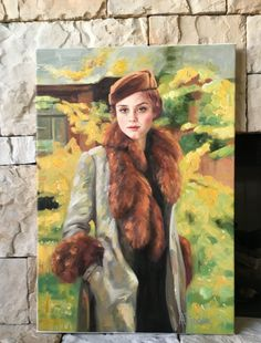 Oil Painting Original Signed Art Impressionist Portrait Woman Landscape Flower Drawing Sketch Russian European Modern Canvas Acrylic
