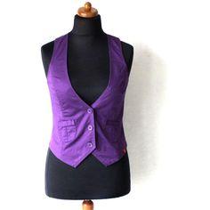 Women's Purple Vest Steampunk Formal Waistcoat Edwardian Renaissance... ($25) ❤…