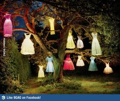 A good way to re-use the old dresses.