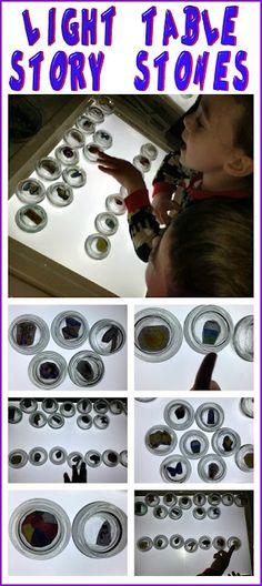 DIY Light Table Story Stones