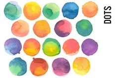 Check out Watercolor Dots Clip Art by Pepper on Creative Market