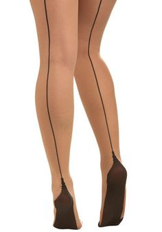 There's something about those black lines at the back of pantyhose -- a throwback to an earlier, more secretive sexual era?
